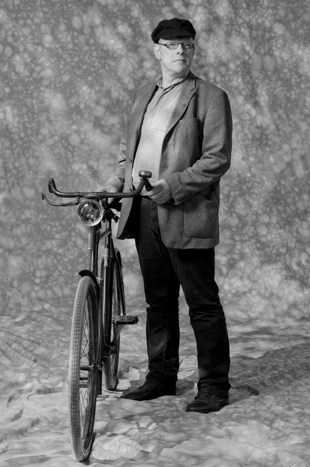 "PORTRAIT: R.KERKHOF - BIKE: GENTELMAN""S BIKE WITH CANDLE"